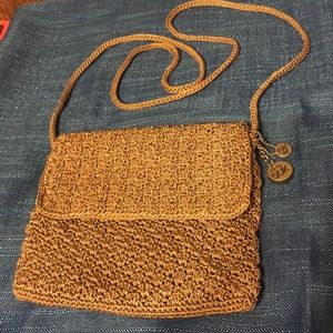 The Sak Tan Crochet Small Crossbody
